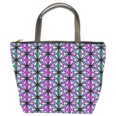 Geometric Patterns Triangle Bucket Bag