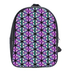 Geometric Patterns Triangle School Bag (large) by Alisyart