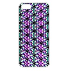 Geometric Patterns Triangle Apple Iphone 5 Seamless Case (white) by Alisyart