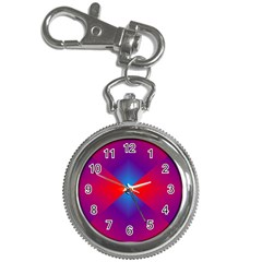 Geometric Blue Violet Red Gradient Key Chain Watches