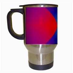 Geometric Blue Violet Red Gradient Travel Mugs (white)