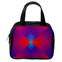 Geometric Blue Violet Red Gradient Classic Handbag (one Side) by Alisyart