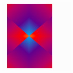 Geometric Blue Violet Red Gradient Large Garden Flag (two Sides) by Alisyart