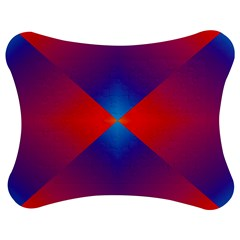 Geometric Blue Violet Red Gradient Jigsaw Puzzle Photo Stand (bow)