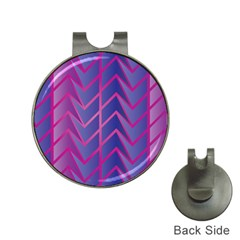 Geometric Background Abstract Hat Clips With Golf Markers