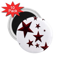 Free Stars 2 25  Magnets (10 Pack)  by Alisyart