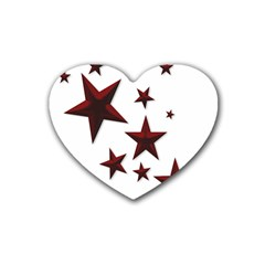 Free Stars Heart Coaster (4 Pack)