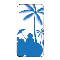 Fresh Blue Coconut Tree Apple Iphone 4/4s Seamless Case (black)