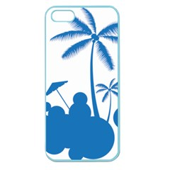 Fresh Blue Coconut Tree Apple Seamless Iphone 5 Case (color)