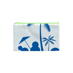 Fresh Blue Coconut Tree Cosmetic Bag (xs) by Alisyart