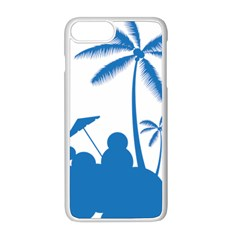 Fresh Blue Coconut Tree Apple Iphone 8 Plus Seamless Case (white) by Alisyart