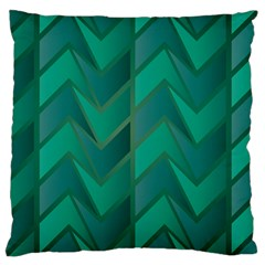 Geometric Background Large Cushion Case (one Side)