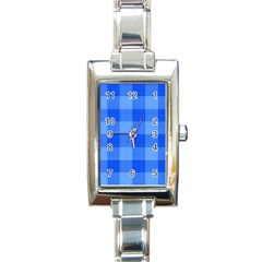 Fabric Grid Textile Deco Rectangle Italian Charm Watch