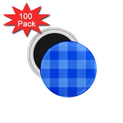Fabric Grid Textile Deco 1 75  Magnets (100 Pack)