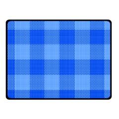 Fabric Grid Textile Deco Fleece Blanket (small) by Alisyart