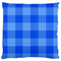 Fabric Grid Textile Deco Large Cushion Case (one Side)
