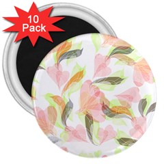 Flower Floral 3  Magnets (10 Pack)  by Alisyart