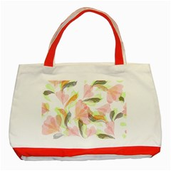 Flower Floral Classic Tote Bag (red) by Alisyart
