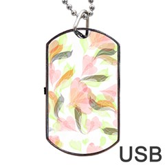 Flower Floral Dog Tag Usb Flash (two Sides) by Alisyart