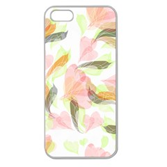 Flower Floral Apple Seamless Iphone 5 Case (clear)