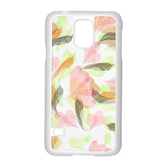 Flower Floral Samsung Galaxy S5 Case (white)