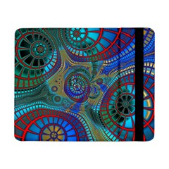 Fractal Abstract Line Wave Unique Samsung Galaxy Tab Pro 8 4  Flip Case by Alisyart
