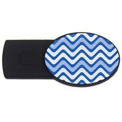 Waves Wavy Lines Pattern Usb Flash Drive Oval (4 Gb)