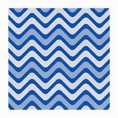 Waves Wavy Lines Pattern Medium Glasses Cloth (2-side) by Alisyart