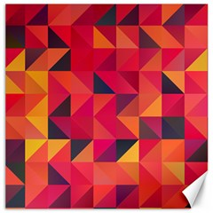 Halftone Geometric Canvas 12  X 12