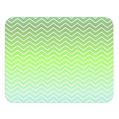 Green Line Zigzag Pattern Chevron Double Sided Flano Blanket (large)  by Alisyart