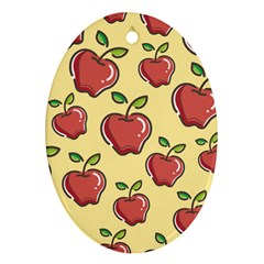 Healthy Apple Fruit Oval Ornament (two Sides)