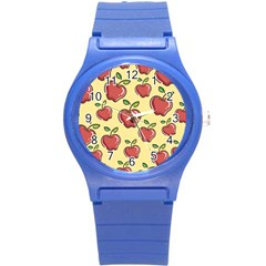 Healthy Apple Fruit Round Plastic Sport Watch (s)