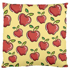 Healthy Apple Fruit Standard Flano Cushion Case (two Sides)