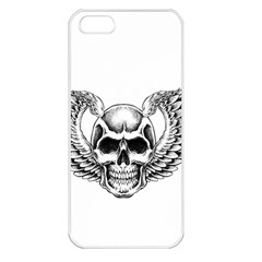 Human Skull Symbolism Apple Iphone 5 Seamless Case (white) by Alisyart