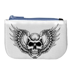Human Skull Symbolism Large Coin Purse by Alisyart