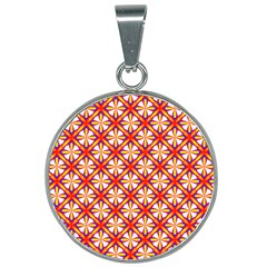Hexagon Polygon Colorful Prismatic 25mm Round Necklace