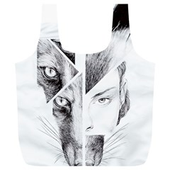 Wolf Girl Full Print Recycle Bag (xl)