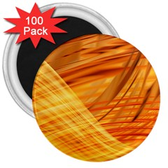 Wave Background 3  Magnets (100 Pack) by Alisyart