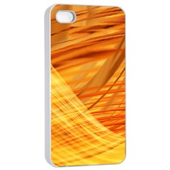 Wave Background Apple Iphone 4/4s Seamless Case (white) by Alisyart