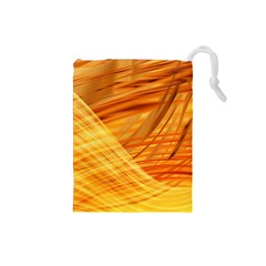 Wave Background Drawstring Pouch (small)