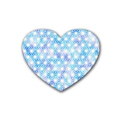 Hemp Pattern Blue Heart Coaster (4 Pack)