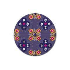 Morocco Tile Traditional Marrakech Magnet 3  (round) by Alisyart