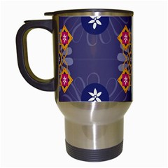 Morocco Tile Traditional Marrakech Travel Mugs (white) by Alisyart