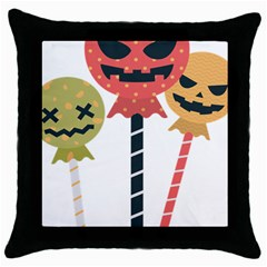 Lollipop Candy Throw Pillow Case (black) by Alisyart