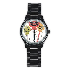 Lollipop Candy Stainless Steel Round Watch by Alisyart