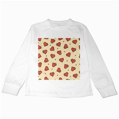Love Heart Seamless Valentine Kids Long Sleeve T Shirts