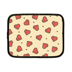 Love Heart Seamless Valentine Netbook Case (small)