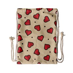 Love Heart Seamless Valentine Drawstring Bag (small)