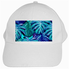 Leaves Tropical Palma Jungle White Cap by Alisyart
