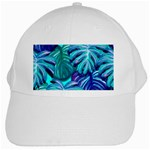 Leaves Tropical Palma Jungle White Cap Front